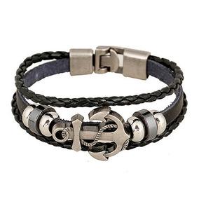 Pulseira Couro Masculina,cordão De Couro Masculino,bracelete