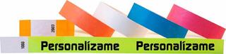 Pulsera Resistente Agua Tyvek 500 Pzas Impresas Y Envío