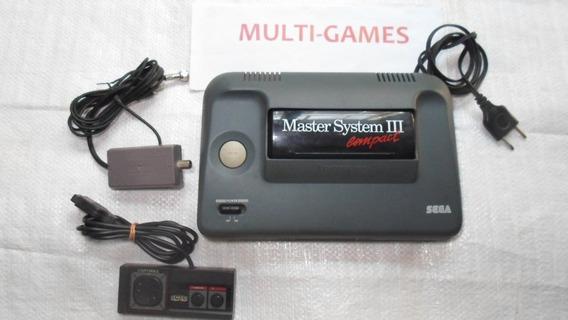 Master System 3 Com Sonic Na Memória Pronto Pra Jogar