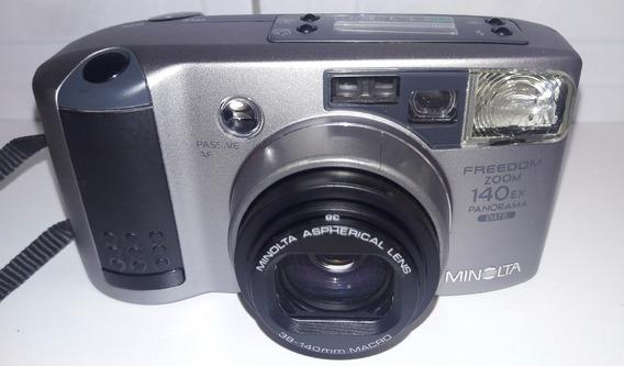 Câmera Minolta Freedom 140ex Ótimo Estado Para Desmonte !