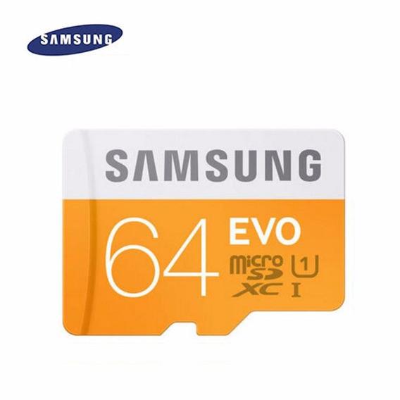 Cartão De Memoria Micro Sd Class 10 Samsung, 64 Gb,