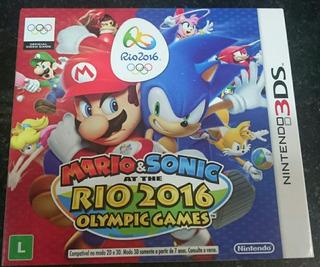 Mario E Sonic At The Rio 2016 Olympic Games Com Luva.