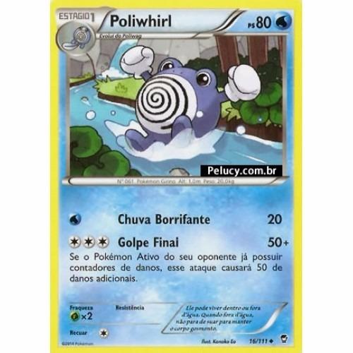 Poliwrath - Pokémon Água Raro 17/111 Foil Xy Punhos Furiosos