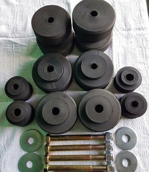 Calço Completo Coxim Da Cabine C-10 E D-10 (pneu) C/parafuso