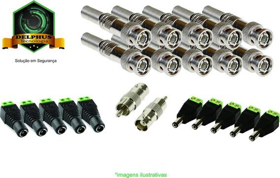 Kit 10 Fontes1a C./22 Conectores Bnc/p4(m/f) E Rca V32c10f1