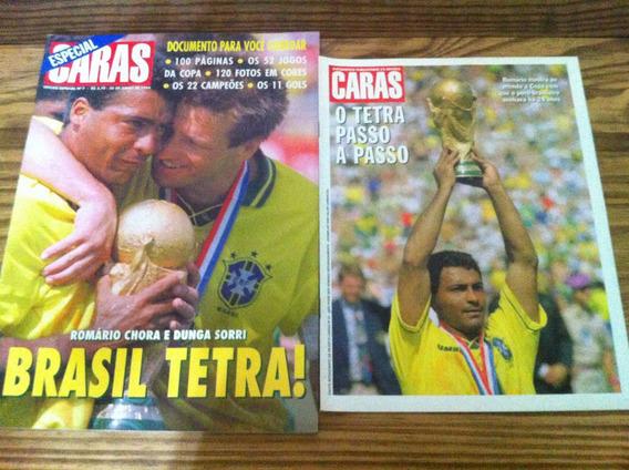2 Revistas Caras Comemorativas - Brasil Tetracampeão