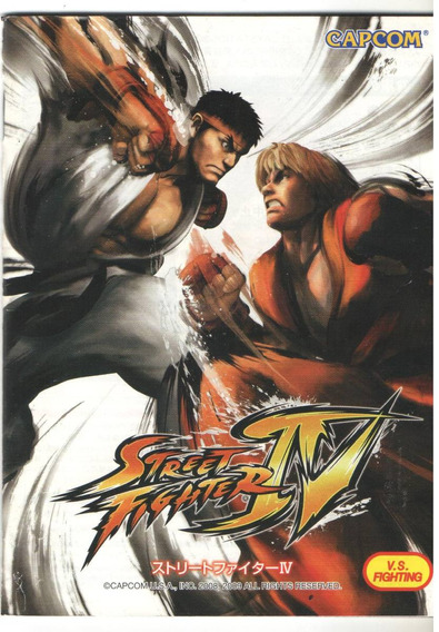 Manual De Instrucoes Jogo Street Fighter Lv /play 3