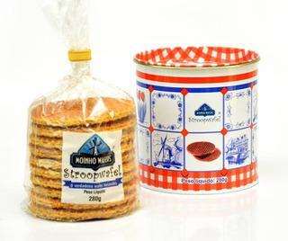 Lata Decorativa - Stroopwafel Moinho C/10un - Presenteie