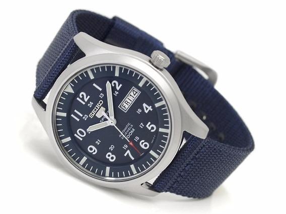 Seiko Militar Automático 100m Snzg11k1 Blue