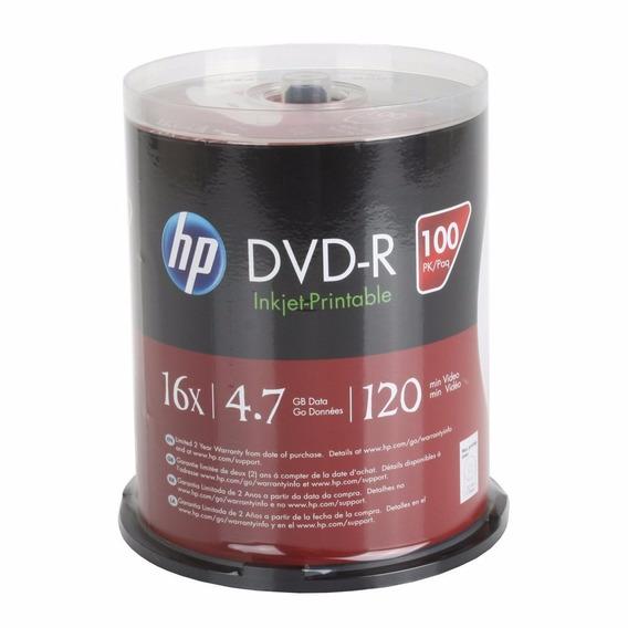 Torre De Dvd Hewlett Packard 4.7 Gb 16x Dvd-r, 100-pack