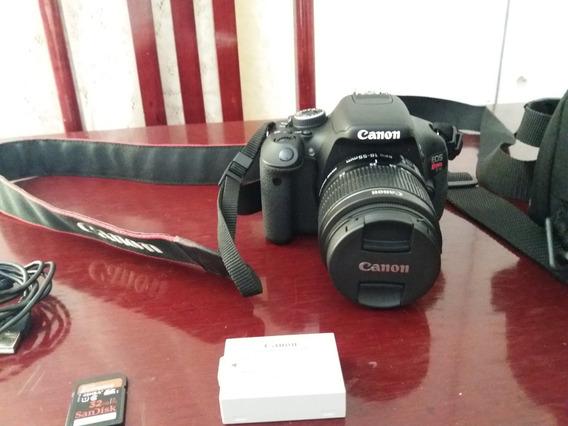 Câmera Canon T3i Completa, Com Cartão De Memória De 32 Gb