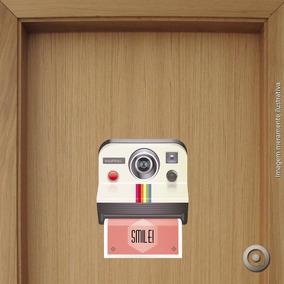 Adesivo De Olho Mágico Polaroid Smile