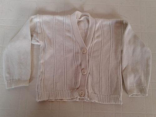 Sweter Bebe 12 Meses Blanco Manga Larga Impecable