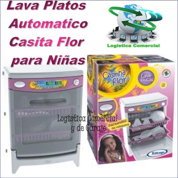 Lava Platos Automát Juguete Casita Flor +16 Accesorios Sonid
