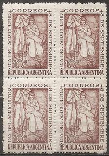 Argentina Gj 960 Mt 498 Día Del Agricultor Mint Año 1948