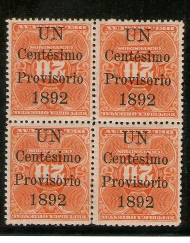 Uruguay 86a (sobrecarga Invertida) En Cuadro.