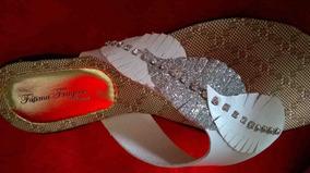 Linda Rasteira Grife Fátima Fragoso Shoes Apenas 25,00 O Par