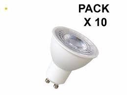 Pack X 10 Lampara Dicroica Led Luz Calida 7w Gu10 220v