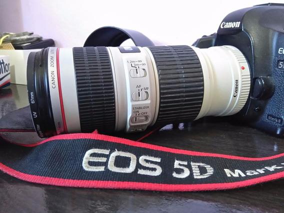 Camera Canon 5d Mark Ii E Lente 70-2mmf4 Isbarata