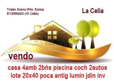 La Celia Lote 20x40 Casa 5 Años Impecable Luminosa