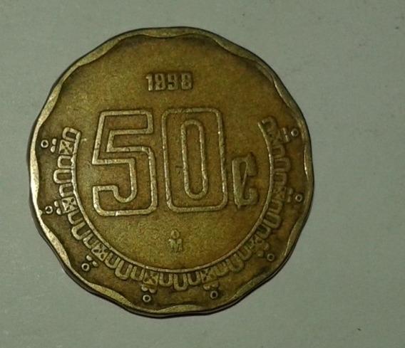 Mexico Moneda De 50 Centavos Año 1998