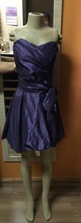 Vestido De Tafetá Balonê Lilás