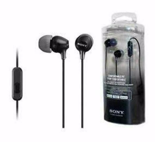Fone Ouvido Sony Mdr-ex15lp Wce Preto