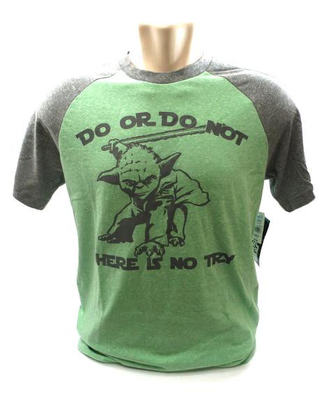 Camisa Mestre Yoda Star Wars Verde E Cinza Tamanho P