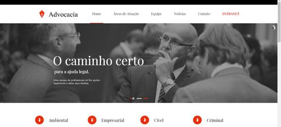 Site Advogado Wordpress - Escritório Virtual Clientes Nuvem