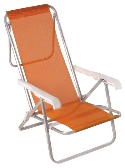 Cadeira Reclinável Alumínio Sannet Coral Mor
