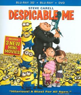 Blu-ray Despicable Me / Mi Villano Favorito 3d + 2d + Dvd