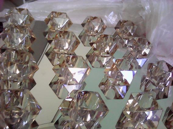 Lustre Cristal, 16 Lampadas. Retangular