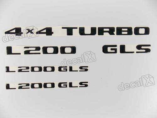 Kit Adesivos L200 Gls 4x4 Turbo Resinado Rs10