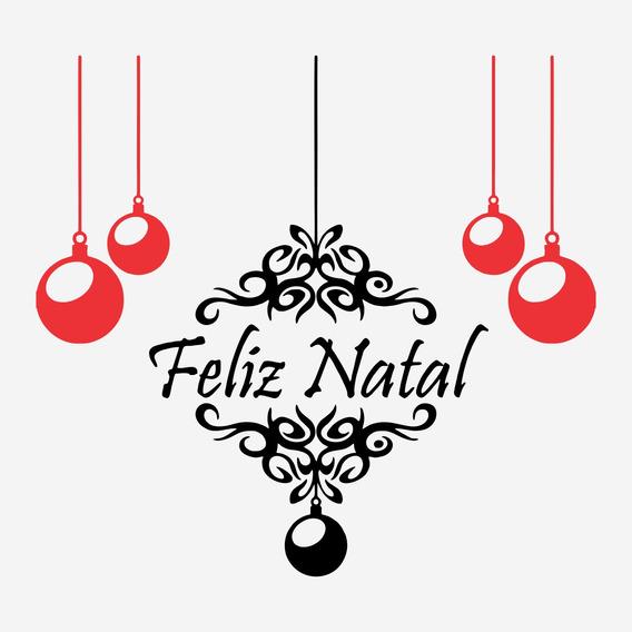 Adesivo Decorativo De Geladeira Parede Feliz Natal 43cm A250