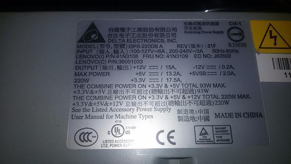 Fonte Lenovo Atx Dps-220db A 41n3108