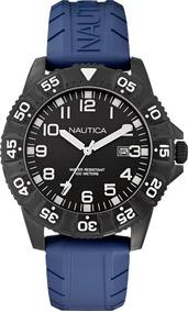 Relógio Masculino Nautica A13028g Aço Inox Pulseira Silicone