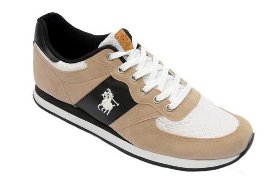 Tenis Jogging Polo Classica Cor Bege.