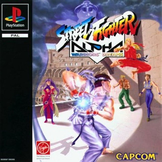 Street Fighter Alpha 1 - Playstation 1 - Psx 1995 - Ps1 -
