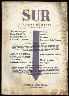 Revista Sur Nº 287 - Vv Aa - Revista - Sur 1964 Poesía Perú