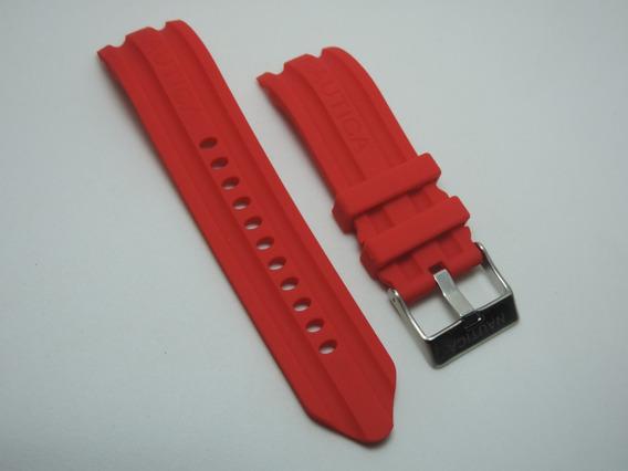 Pulseira Nautica De Silicone 24mm Vermelha