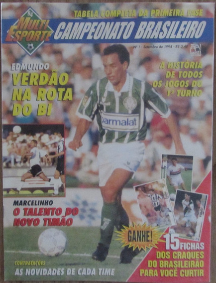 Revista Veja Minha Coleção Esporte Tabelão Brasileirão 1994