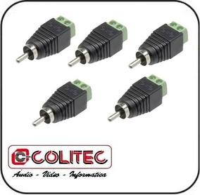 Lote Com 5 Adaptadores Kre 2 Contatos X Plug Rca Macho