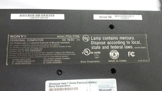 Carcaça Base Inferior Notbook Sony Vaio Pcg-7113l