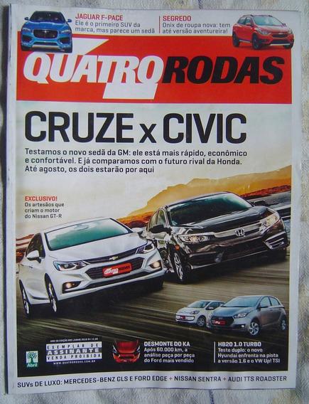 Revista Quatro Rodas - Edição 683 -cruze X Civic.