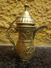 Antigo Pequeno Bule Marroquino Em Bronze - C 2982