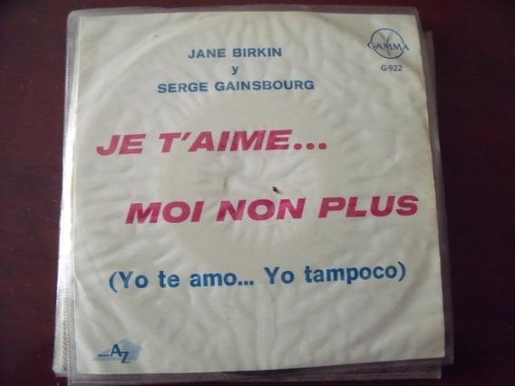 Ep Jane Birkin Y Serge Gainsbourg Yo Te Amo Yo Tampoco Mercado Libre