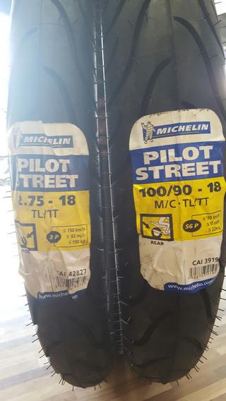 Par De Pneu 275-18+100/90-18 Michelin Pilot Street Cbx200