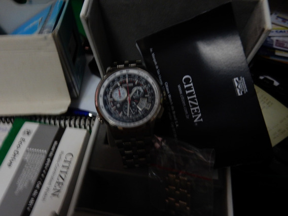Relógio Citizen Radio-controle, Calendário Perpétuo,titanio.