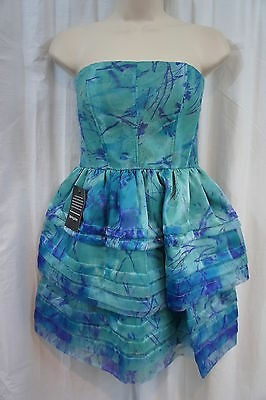 Vestido Azul Cóctel By Adrianna Papell