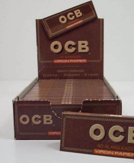 Papel Ocb Virgin Paper - No Blanqueado Caja X 25 Unidades